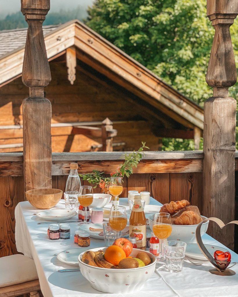 Frühstück Chalet PURADIES